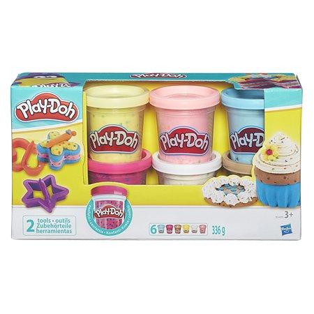 Набор Play-Doh 6 баночек с конфетти