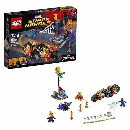 Конструктор LEGO Super Heroes Человек-паук:союз с Призрачным гонщиком (76058)