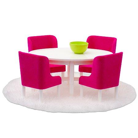 Мебель для домика Lundby Смоланд Обеденная группа 7предметов Малиновый LB_60208000
