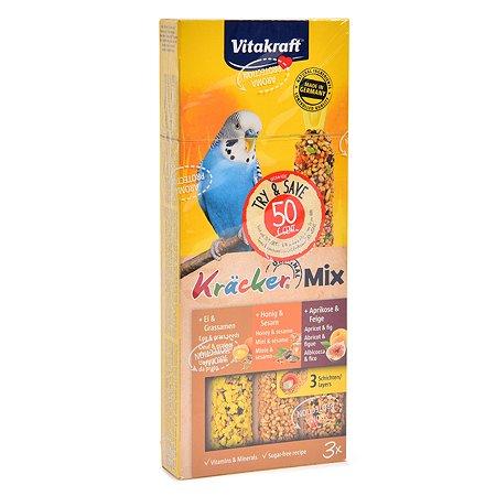 Лакомство для волнистых попугаев Vitakraft крекеры мед-яйцо-фрукты 3шт