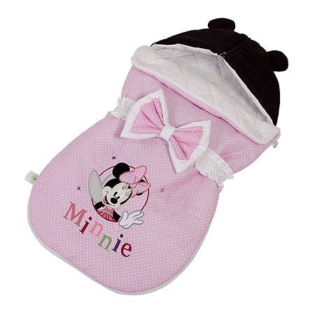 Конверт Polini kids Disney baby Минни Маус Фея демисезонный Розовый