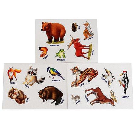 Игра развивающая УМка Лесные животные с липучками 7 листов 251377