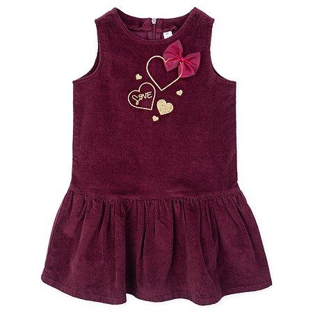 Платье PlayToday бордовое