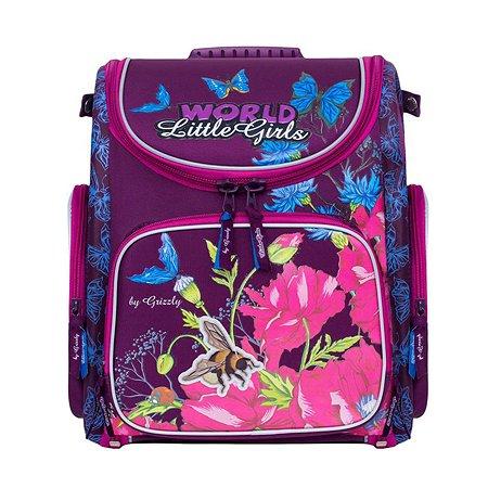 Рюкзак Grizzly Пчелка для девочек Фиолетовый