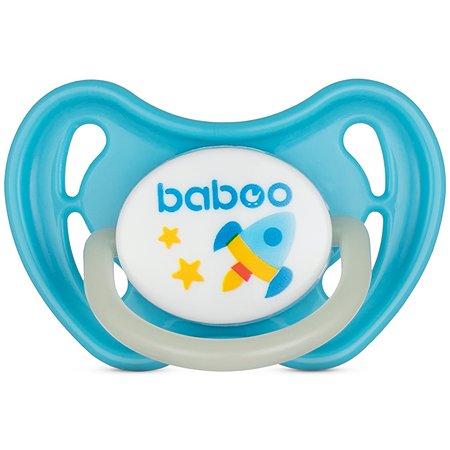 Соска-пустышка BABOO Space ночная с 6месяцев Голубой 5-212