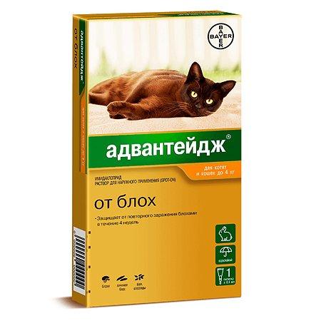 Капли для котят и кошек BAYER Адвантейдж против блох 1пипетка