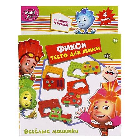 Тесто для лепки Multiart Фиксики Веселые машинки 4 цвета
