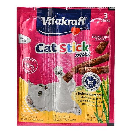 Лакомство для кошек Vitakraft Колбаски курица-травы 6г*3шт 31219