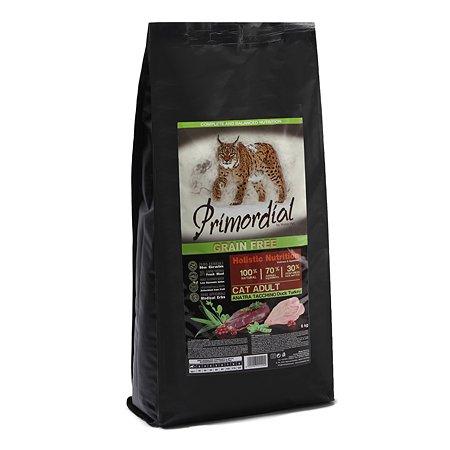 Корм сухой для кошек Primordial 6кг беззерновой утка-индейка