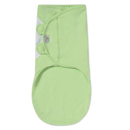 Пеленка Pecorella SwaddleFun на липучках XL 6.5-10кг Light Green