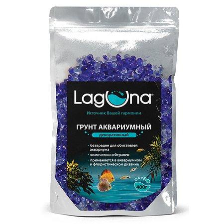 Грунт для рыб Laguna декоративный 400г Синий-Голубой