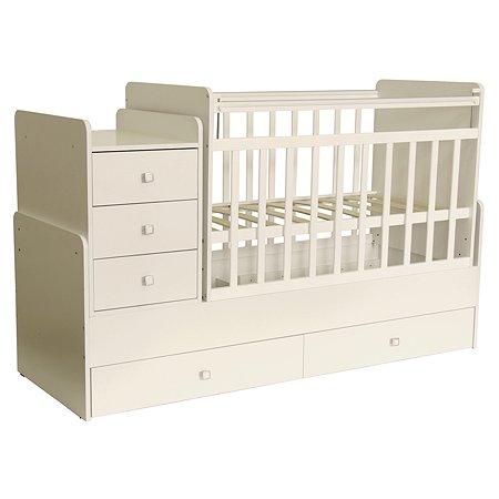 Кровать детская Фея 1100 Слоновая кость 0001033.11
