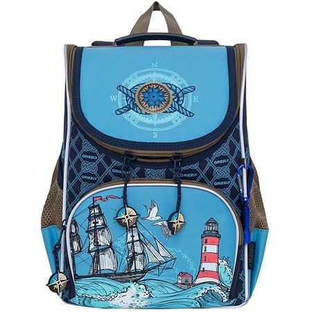 Рюкзак Grizzly Корабль для мальчиков Голубой