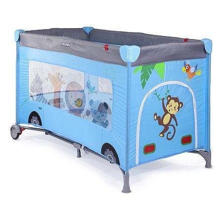 Кровать-манеж Babyton Blue bus G120