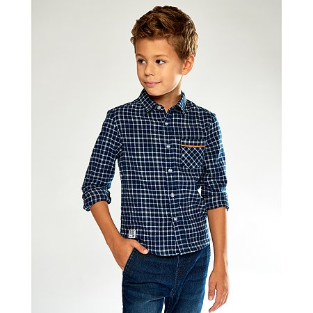 Рубашка Futurino Fashion тёмно-синяя
