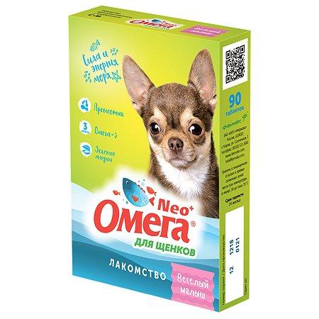 Добавка пищевая для щенков Фармакс Омега Neo+ Веселый малыш с пребиотиком 90таблеток