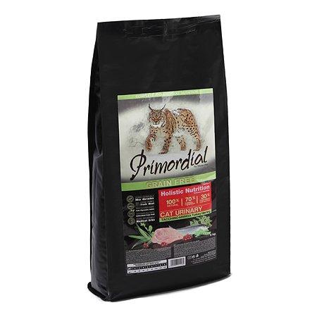 Корм сухой для кошек Primordial 6кг беззерновой индейка-сельдь с МКБ