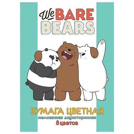 Набор цветной бумаги Hatber Вся правда о медведях А4 8цветов 8л 056969