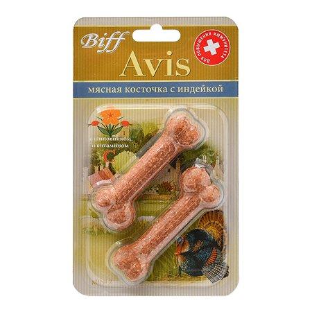 Лакомство для собак BIFF Avis Косточка с индейкой mini 40 г