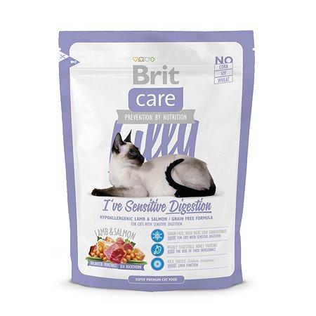 Корм сухой для кошек Brit Care 400г с чувствительным желудком
