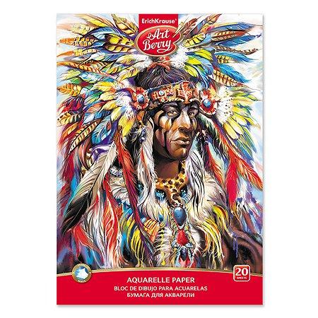 Альбом для рисования ArtBerry Индеец для акварели А4 20л 46895