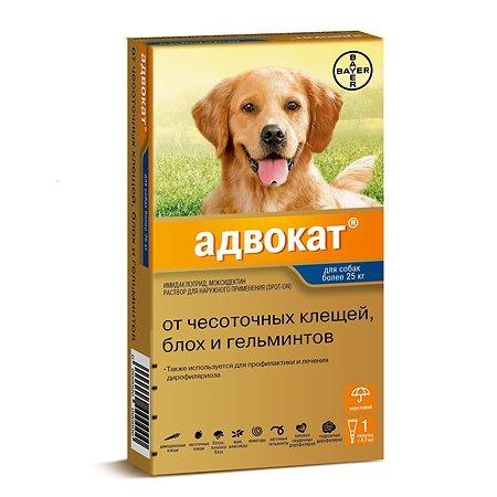Капли для собак BAYER Адвокат более 25кг антипаразитарные 1пипетка