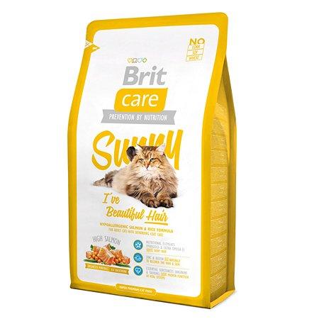 Корм сухой для кошек Brit Care 2кг длинношерстных