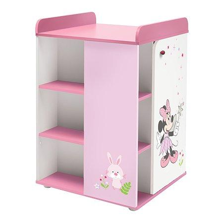 Комод Polini kids Disney baby Минни Маус Фея с дверью Белый-Розовый