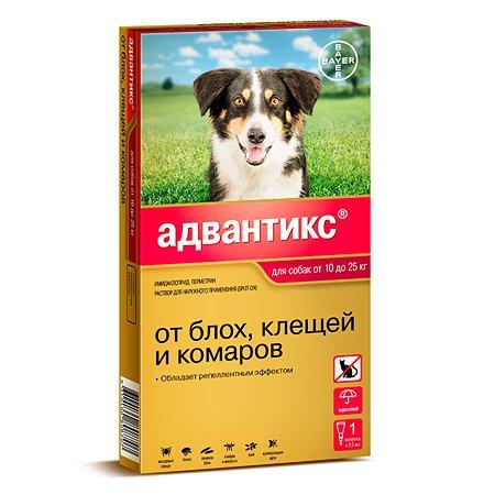 Капли для собак Bayer BAYER Адвантикс от 10 до 25 кг против блох и клещей 1пипетка