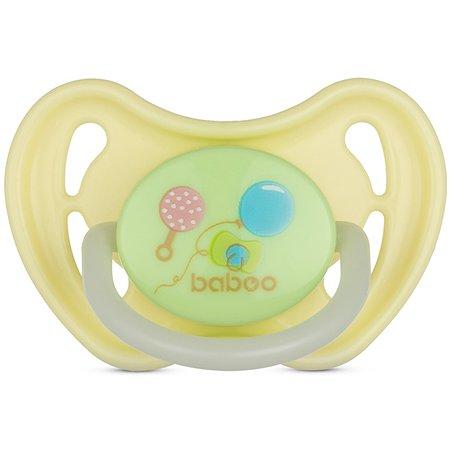 Соска-пустышка BABOO Baby Shower ночная с 0месяцев 5-017