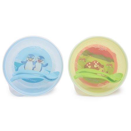 Тарелка Canpol Babies с присоской и крышкой