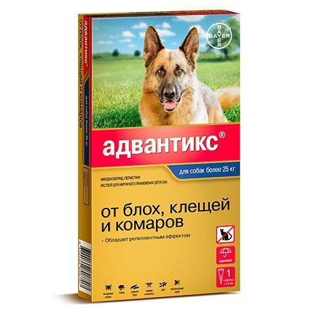 Капли для собак BAYER Адвантикс от 25 до 40 кг против блох и клещей 1пипетка