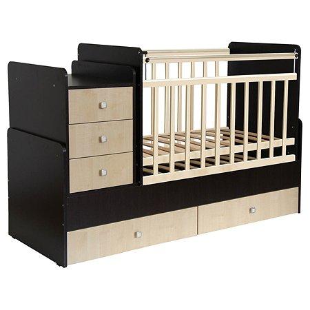 Кровать детская Фея 1100 Венге-Клен 0001033.12