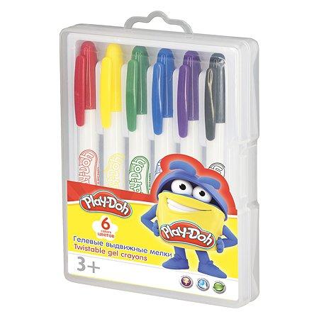 Набор гелевых мелков Kinderline Play Doh 6цв в чемодане
