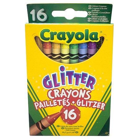 Восковые мелки Crayola с блестками 16 шт