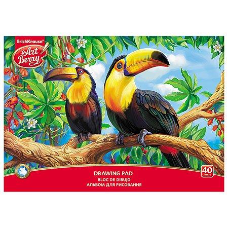 Альбом для рисования ArtBerry Экзотические птицы А4 40л 46917