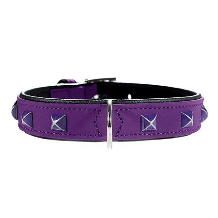 Ошейник для собак Hunter Softie Pyramide Фиолетовый-Черный