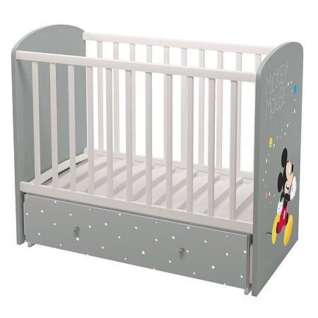 Кроватка детская Polini kids Disney baby Микки Маус Белый-Серый