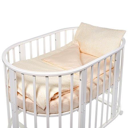 Комплект в круглую/овальную кроватку Sweet Baby 4предмета Luce Beige Бежевый