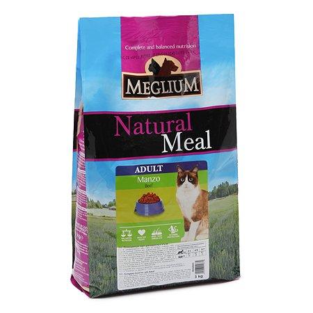 Корм сухой для кошек Meglium Adult 3кг говядина