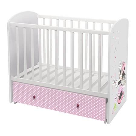 Кроватка детская Polini kids Disney baby Минни Маус Фея Белый-Розовый