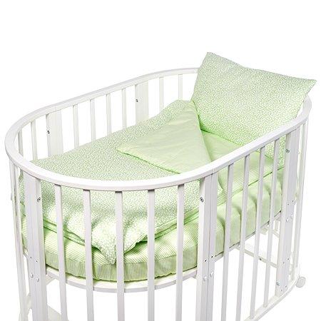 Комплект в круглую/овальную кроватку Sweet Baby 4предмета Luce Verde Светло-зеленый