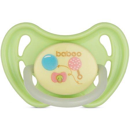 Соска-пустышка BABOO Baby Shower ночная с 6месяцев 5-018