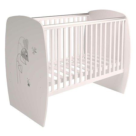 Кроватка детская Polini kids French 700 Amis Белый