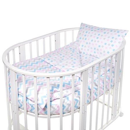 Комплект в круглую/овальную кроватку Sweet Baby Amato 4предмета Bianco Белый
