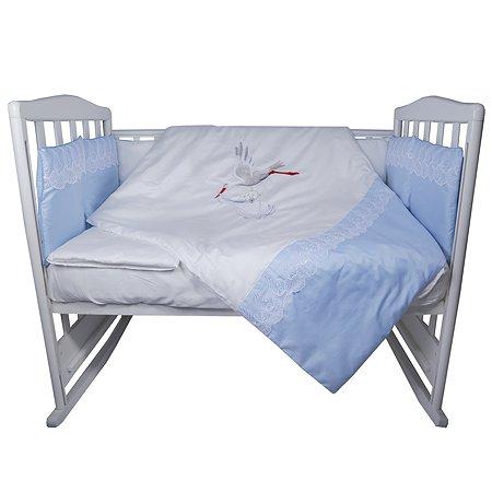 Комплект постельного белья Эдельвейс Аист 4предмета 10417