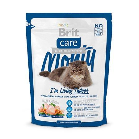 Корм сухой для кошек Brit Care 400г живущих в помещении