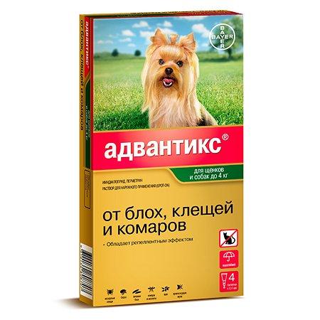 Препарат инсектоакарицидный для собак BAYER Адвантикс 0.4мл 4пипетки