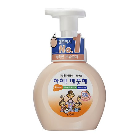 Мыло для рук LION Ai-Kekute пенное антибактериальное аромат персика 250мл