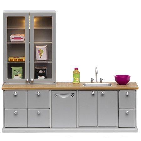 Мебель для домика Lundby Кухня 9предметов Серый LB_60201600